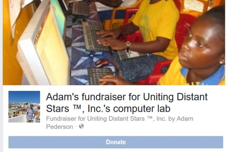 Many Thanks to Adam Pederson's Facebook Fundraiser