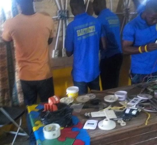 Young Electricians Learning to Light the World