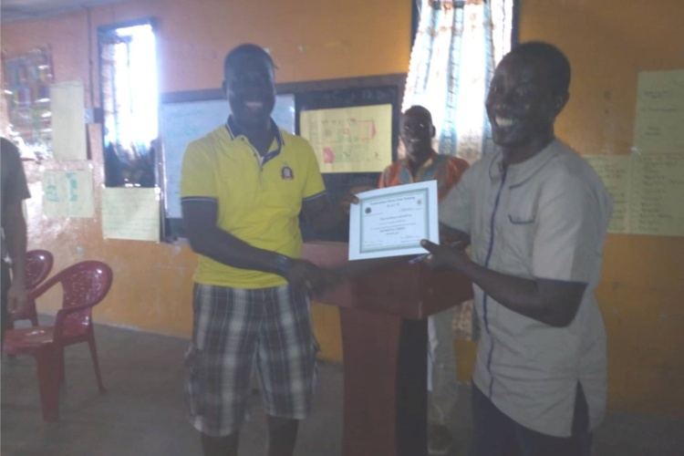 Recognizing Kelvin Fomba For His Dedicated Service