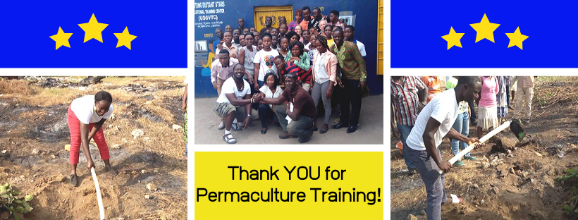 Thanking supporters for Permaculture Training.