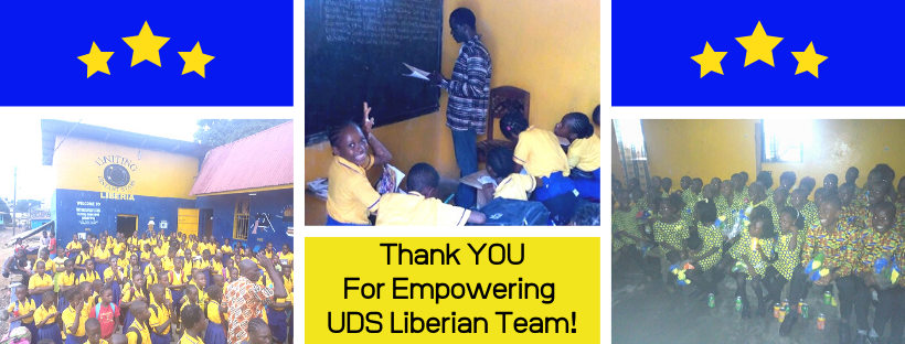 Thanking supporters for empowering Liberian Team to start a tuition-free primary school.