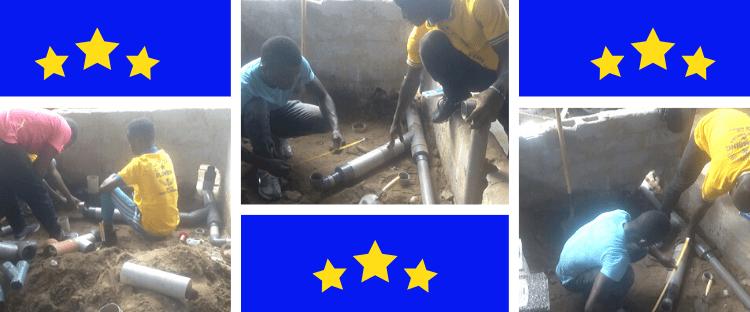Plumbing Students Applying Their Skills